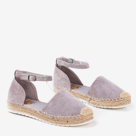 Light gray women's espadrilles on the Citiva platform - Footwear 1