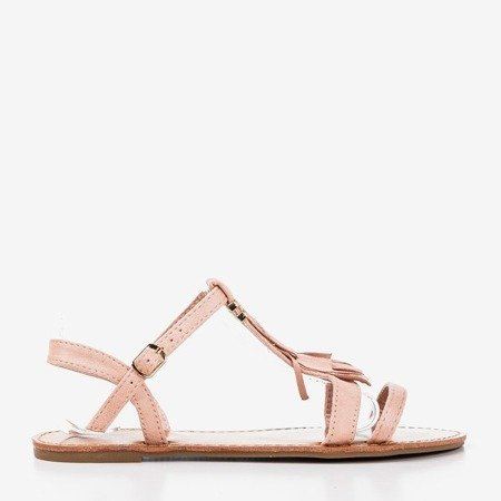 Light pink sandals with fringes Minikria - Footwear 1