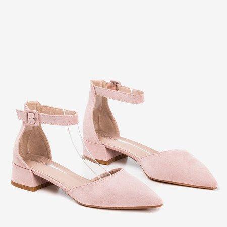 Light pink women's flat heels Tigrana - Footwear 1