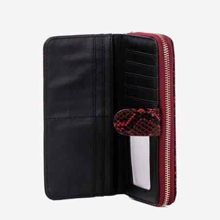 Maroon women's wallet a'la snakeskin - Wallet