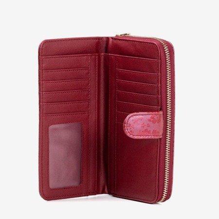 Maroon women's wallet with flowers - Wallet