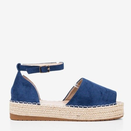 Navy blue espadrilles with Narilina cut-out - Footwear