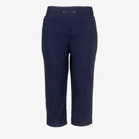 Navy short leggings with welt - Pants 1