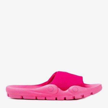 Neon pink flip-flops with mesh Sensie - Footwear 1