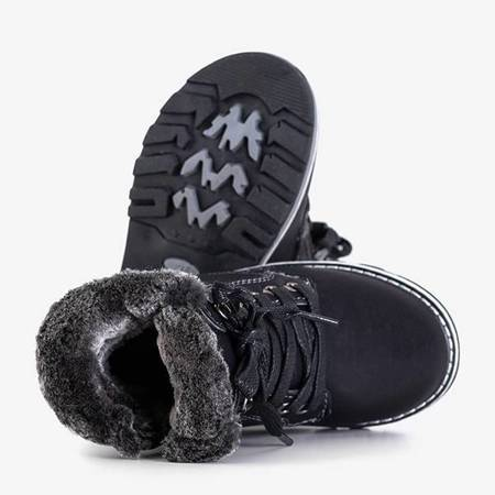 OUTLET Black boys' insulated boots Vadik - Footwear