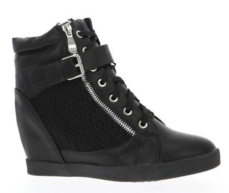 OUTLET Black wedge sneakers - Shoes