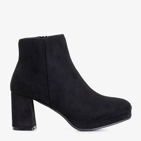 OUTLET Black women's boots on the Calida post - Footwear