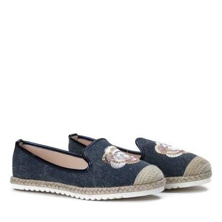 OUTLET Blue espadrilles with a floral Hoa motif - Footwear