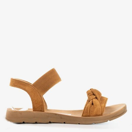 OUTLET Brown women's sandals Redish - Footwear
