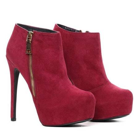 OUTLET Burgundy boots on a high heel Blooane - Footwear
