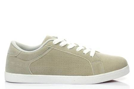 OUTLET Gray sneakers made of ecological suede Addilyn - Footwear
