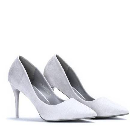 OUTLET Light gray pumps on a Jazmine stiletto - Shoes