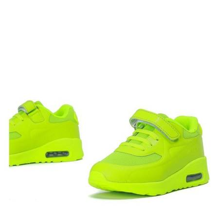 OUTLET Neon yellow children's sports shoes Franny - Footwear