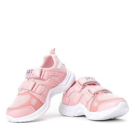 OUTLET Pink girls' shoes on a thick soles Pilija -Shoes