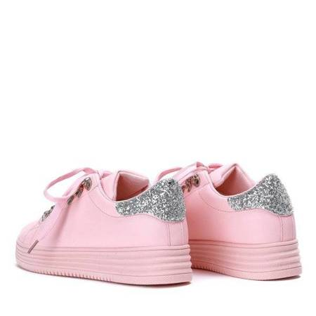 OUTLET Pink sneakers with glitter Rica - Footwear