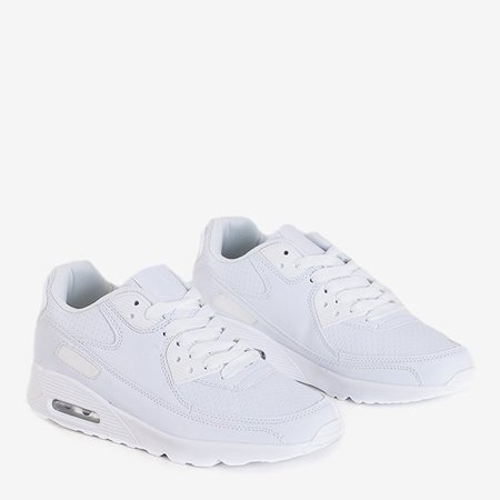OUTLET Shenia white faux leather sports shoes - Footwear