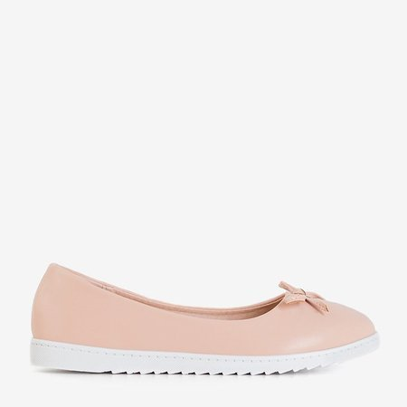 OUTLET Women's powder ballerinas with a bow Flonen - Shoes