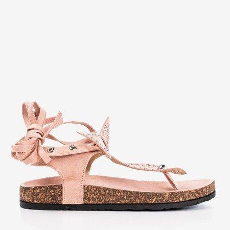 Pink Celione sandals tied - Footwear