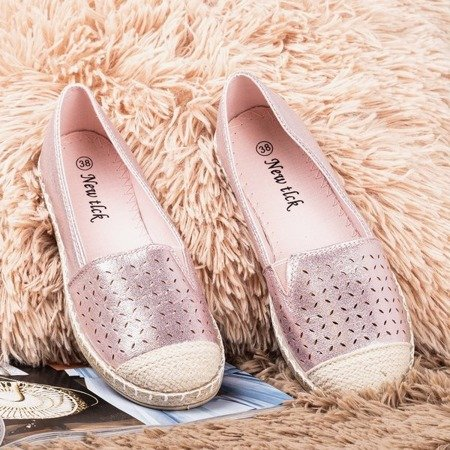 Pink espadrilles with openwork Sevia ornament - Footwear 1