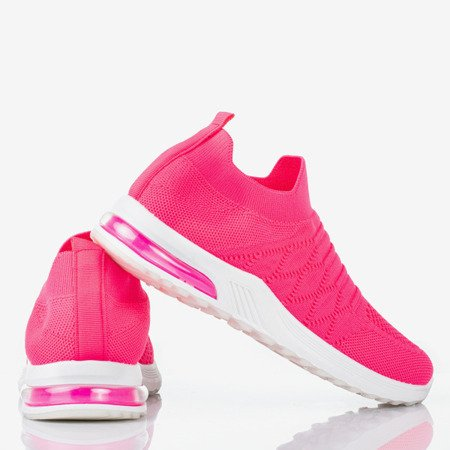 Pink neon women's slip-on sport shoes - on Brighta - Footwear 1