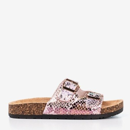 Pink snake slippers with clasps Summer Snake - Footwear