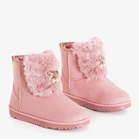 Pink women's snow boots with Iracema decorations - Footwear
