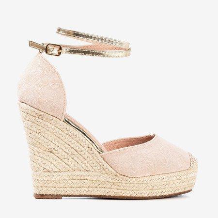 Powder espadrilles on a high wedge Sablac - Footwear