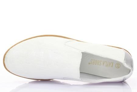 Qestetti silver women's sports slip-on sneakers - Footwear