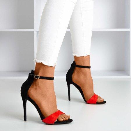 Red - black women's sandals on a high heel Gold Rush - Footwear 1