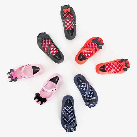 Red children's meliski with Blanka decorations - Shoes