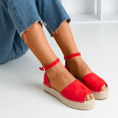 Red espadrilles with Narilina cut - Footwear