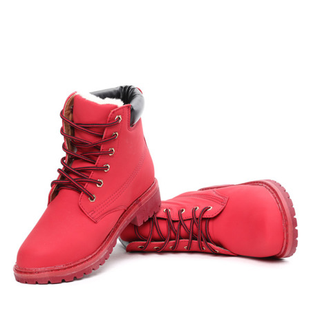Red insulated boots Viviana - Footwear