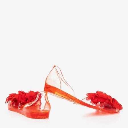 Red meliski decorated with Sinetta crystals - Footwear 1