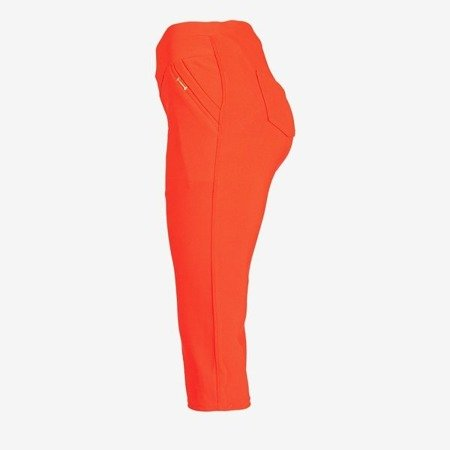 Red short leggings with a welt - Pants 1
