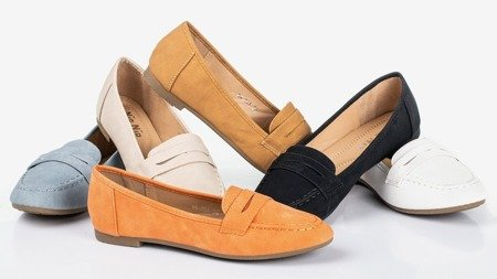 Roselle orange women's moccasins - Footwear