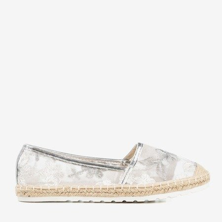 Silver espadrilles with a transparent Summes upper - Footwear 1
