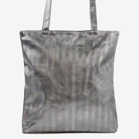 Silver patterned shoulder bag - Handbags 1