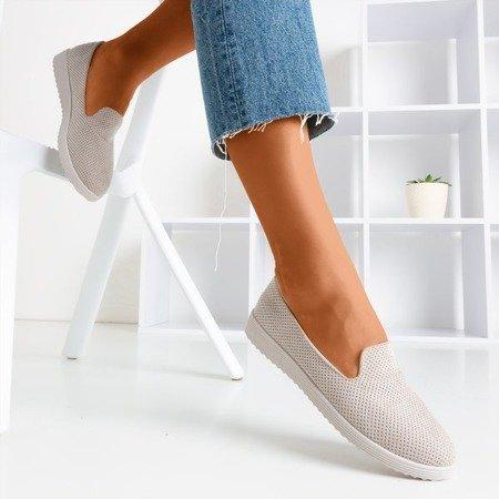 Verinda beige openwork loafers - Shoes