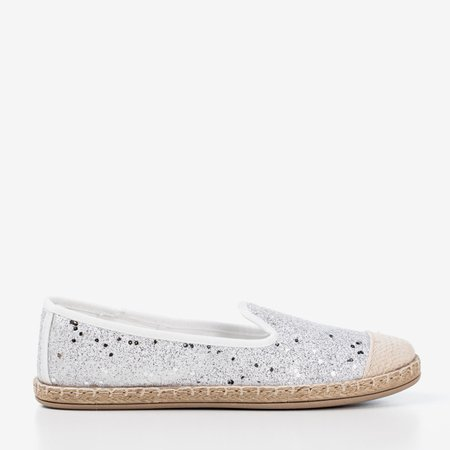 White espadrilles with glitter Sevia - Footwear 1