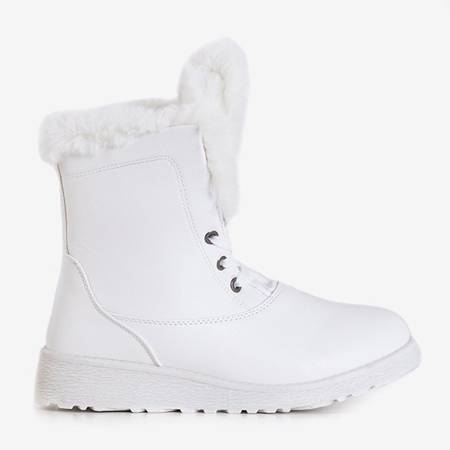 White snow boots with fur Cool Breeze - Footwear