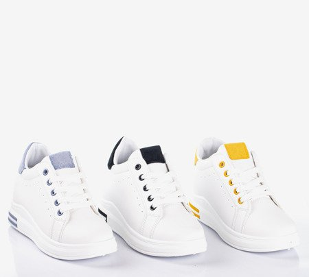 White sports shoes on an indoor wedge with blue Sliomena inserts - Footwear 1
