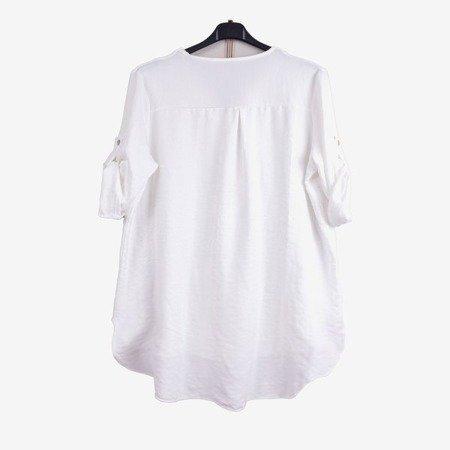 White women's classic tunic - Blouses 1