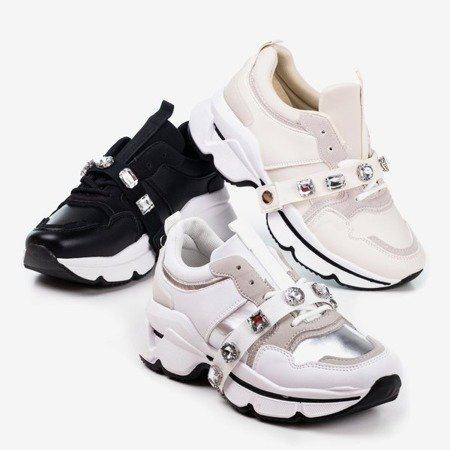 White women's sneakers on a thick sole Esita - Footwear 1