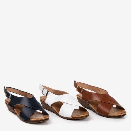 White women's sandals on the low wedge Jaliga - Footwear 1