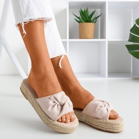 Women's powder sandals on the Baby Bow platform - Footwear 1