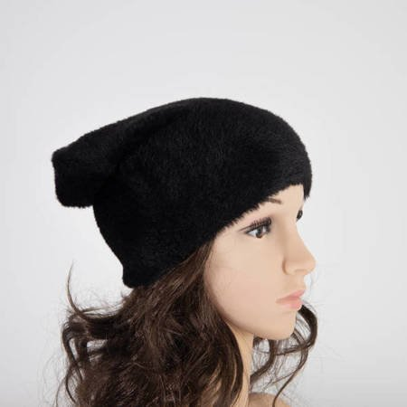 Women's Black Fur Hat - Caps