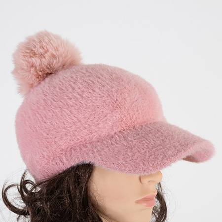 Women's baseball cap with a pompom - Caps