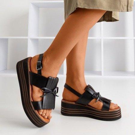 Women's black Gumessa platform sandals - Footwear