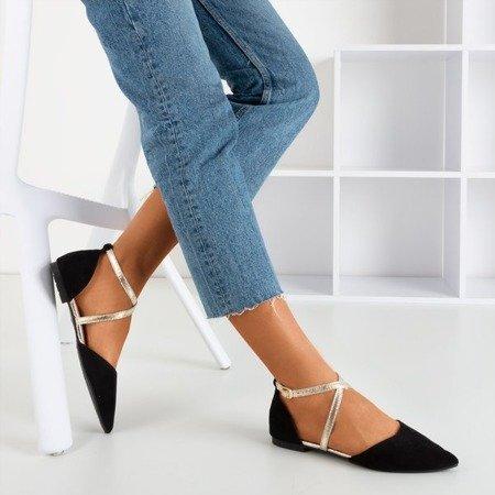 Women's black ballerinas with flat heels Vosia - Footwear