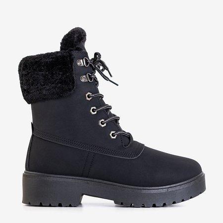 Women's black insulated boots - Footwear